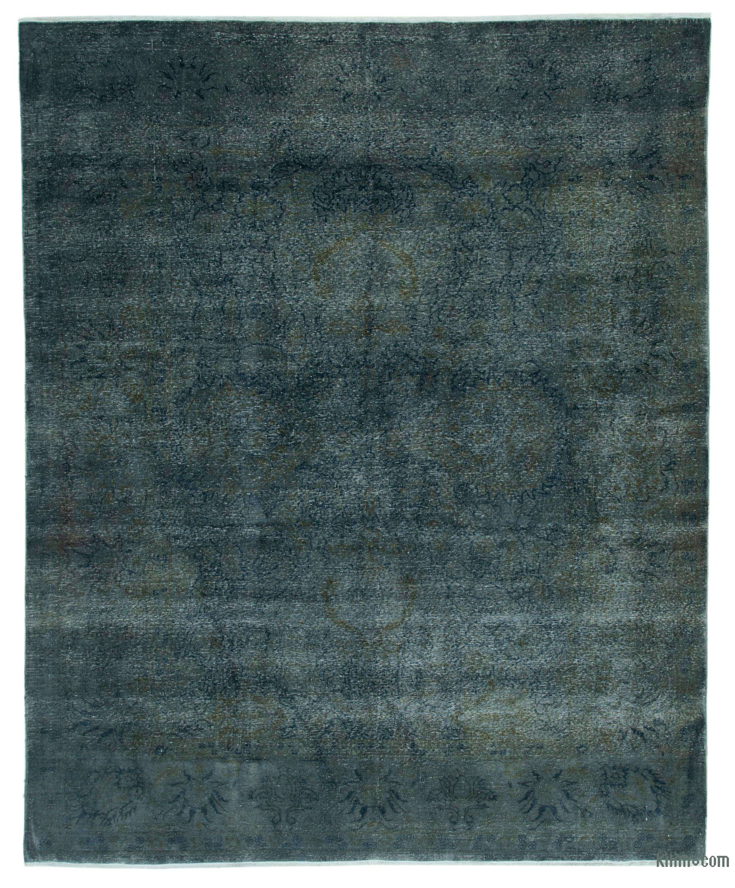 Grey Overdyed Vintage Hand Knotted Oriental Rug 8 X 9 10 96 In X 118 In