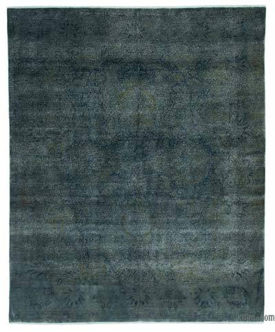 Blue Over-dyed Turkish Vintage Rug - 8' x 9'10'' (96 in. x 118 in.)