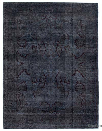 Grey Over-dyed Turkish Vintage Rug - 7'10'' x 10'7'' (94 in. x 127 in.)