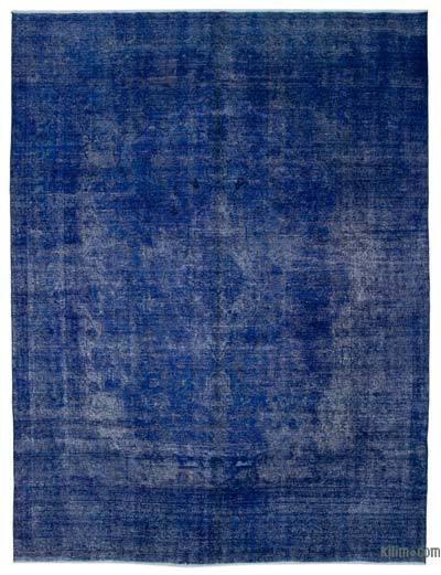 Blue Over-dyed Turkish Vintage Rug - 9'5'' x 12'3'' (113 in. x 147 in.)