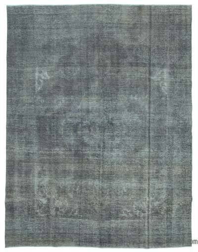 Grey Over-dyed Turkish Vintage Rug - 9'10'' x 12'11'' (118 in. x 155 in.)