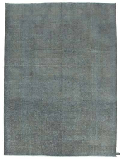 Grey Over-dyed Turkish Vintage Rug - 9'3'' x 12'6'' (111 in. x 150 in.)