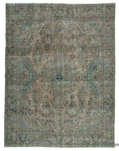 Beige Over-dyed Turkish Vintage Rug - 10'3'' x 13'4'' (123 in. x 160 in.)