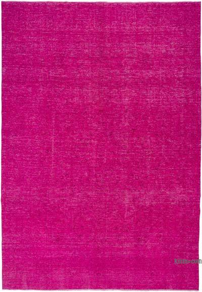 Pink Over-dyed Turkish Vintage Rug - 9'2'' x 13' (110 in. x 156 in.)