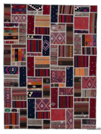 Multicolor Kilim Patchwork Rug - 5'9'' x 7'9'' (69 in. x 93 in.)