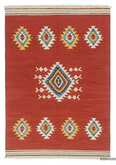 "New Handwoven Turkish Kilim Rug - 5'11"" x 8'4"" (71 in. x 100 in.)"