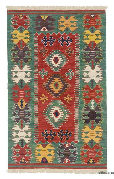 "New Handwoven Turkish Kilim Rug - 4' x 6'6"" (48 in. x 78 in.)"
