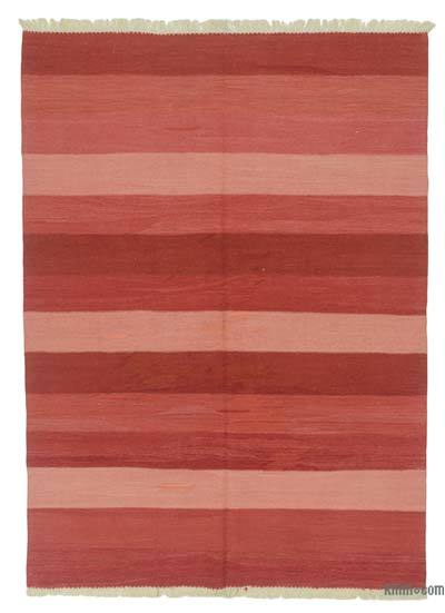"New Handwoven Turkish Kilim Rug - 5'5"" x 7'5"" (65 in. x 89 in.)"