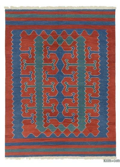 "New Handwoven Turkish Kilim Rug - 6'1"" x 8' (73 in. x 96 in.)"