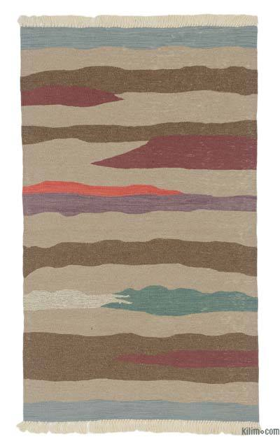 "New Handwoven Turkish Kilim Rug - 3' x 5'1"" (36 in. x 61 in.)"
