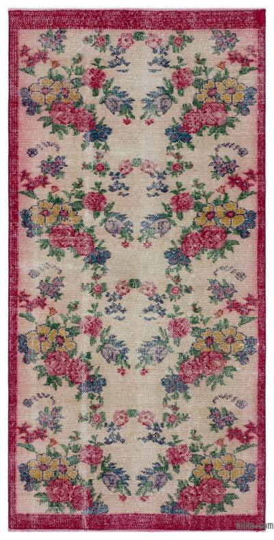 "Turkish Vintage Area Rug - 3'2"" x 6'6"" (38 in. x 78 in.)"