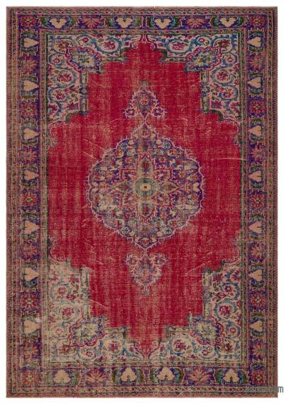"Turkish Vintage Area Rug - 6'10"" x 9'9"" (82 in. x 117 in.)"