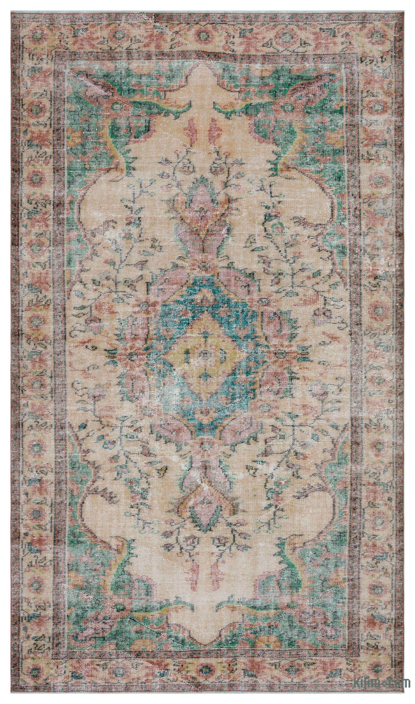 K0043855 Turkish Vintage Area Rug 5 8