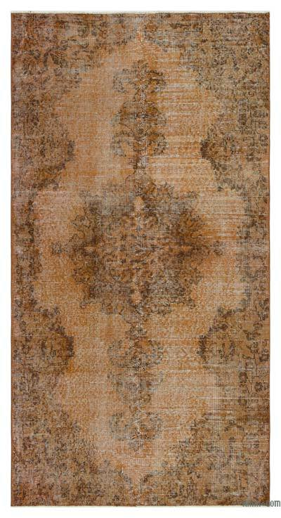 "Over-dyed Turkish Vintage Rug - 3'7"" x 6'11"" (43 in. x 83 in.)"