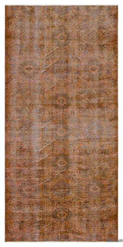"Over-dyed Turkish Vintage Rug - 3'7"" x 7'4"" (43 in. x 88 in.)"