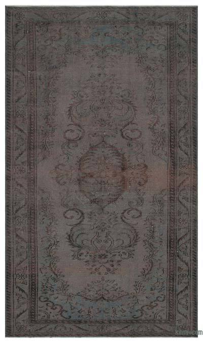 "Over-dyed Turkish Vintage Rug - 5'6"" x 8'11"" (66 in. x 107 in.)"