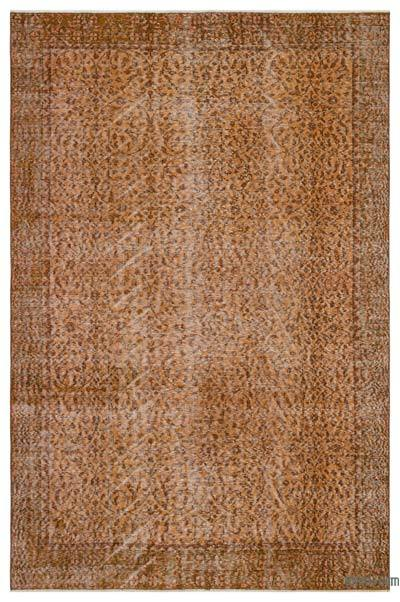 "Over-dyed Turkish Vintage Rug - 5'6"" x 8'6"" (66 in. x 102 in.)"