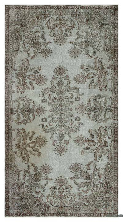 "Over-dyed Turkish Vintage Rug - 3'10"" x 7'1"" (46 in. x 85 in.)"