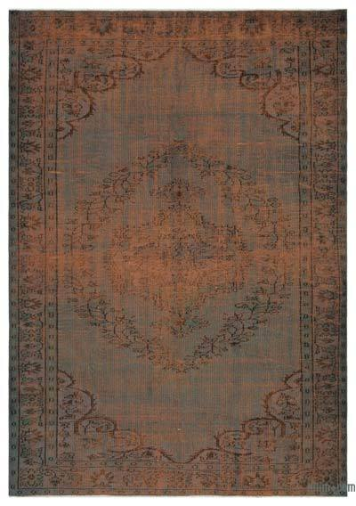 "Over-dyed Turkish Vintage Rug - 6'2"" x 8'8"" (74 in. x 104 in.)"