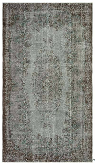 "Over-dyed Turkish Vintage Rug - 5'7"" x 10' (67 in. x 120 in.)"