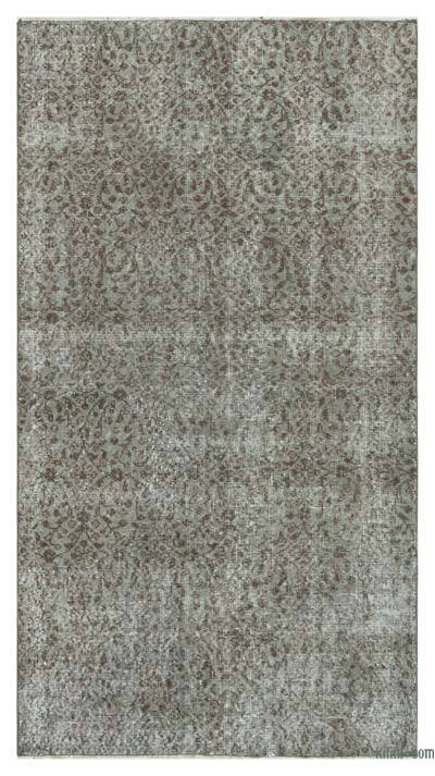 "Over-dyed Turkish Vintage Rug - 3'7"" x 6'7"" (43 in. x 79 in.)"