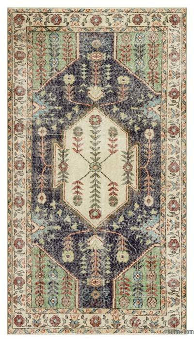 "Turkish Vintage Area Rug - 3'11"" x 7' (47 in. x 84 in.)"