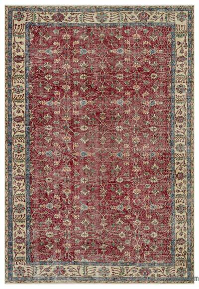"Turkish Vintage Area Rug - 6'6"" x 8'10"" (78 in. x 106 in.)"