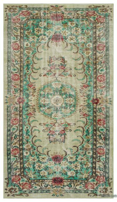 "Turkish Vintage Area Rug - 4'10"" x 8'8"" (58 in. x 104 in.)"