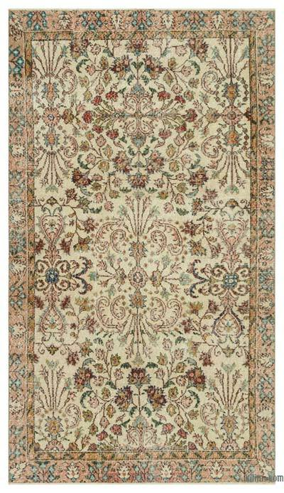 "Turkish Vintage Area Rug - 4'10"" x 8'6"" (58 in. x 102 in.)"