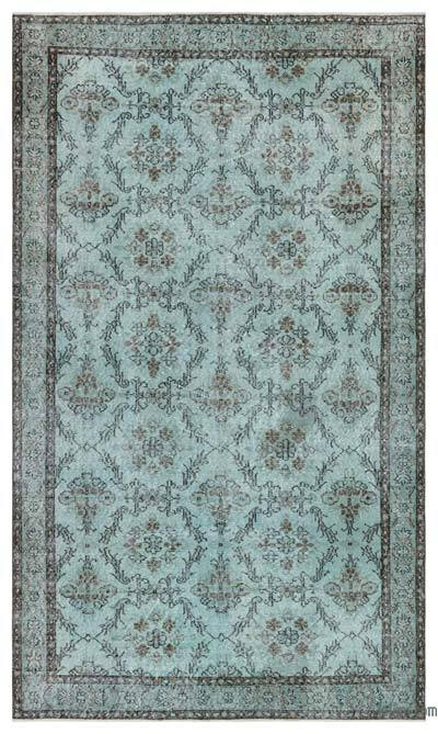 "Over-dyed Turkish Vintage Rug - 4'11"" x 8'7"" (59 in. x 103 in.)"