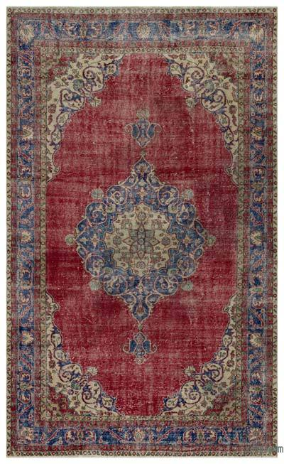 "Turkish Vintage Area Rug - 6'8"" x 10'6"" (80 in. x 126 in.)"