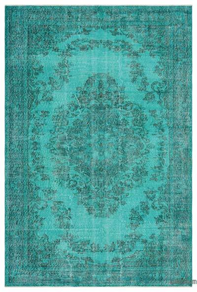 "Over-dyed Turkish Vintage Rug - 5'10"" x 8'10"" (70 in. x 106 in.)"