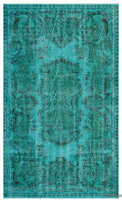 "Over-dyed Turkish Vintage Rug - 5'2"" x 8'9"" (62 in. x 105 in.)"