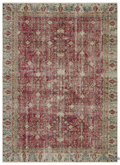 "Turkish Vintage Area Rug - 6'8"" x 9'5"" (80 in. x 113 in.)"