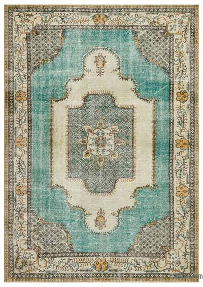 "Turkish Vintage Area Rug - 6'11"" x 9'11"" (83 in. x 119 in.)"