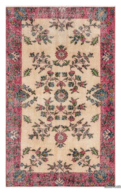 "Turkish Vintage Area Rug - 2'11"" x 4'9"" (35 in. x 57 in.)"