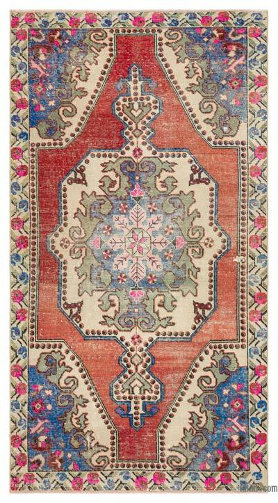 "Turkish Vintage Area Rug - 4'3"" x 7'9"" (51 in. x 93 in.)"