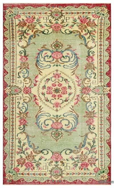 "Turkish Vintage Area Rug - 5'6"" x 9'1"" (66 in. x 109 in.)"