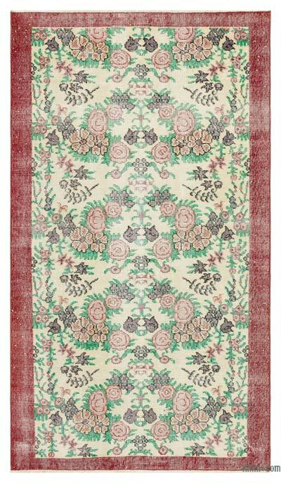"Turkish Vintage Area Rug - 3'9"" x 6'7"" (45 in. x 79 in.)"