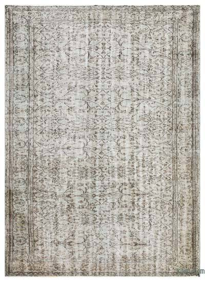 "Over-dyed Turkish Vintage Rug - 6'4"" x 8'8"" (76 in. x 104 in.)"