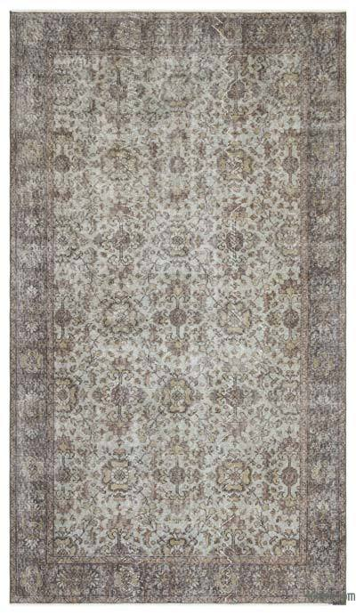 "Over-dyed Turkish Vintage Rug - 5'4"" x 9'5"" (64 in. x 113 in.)"