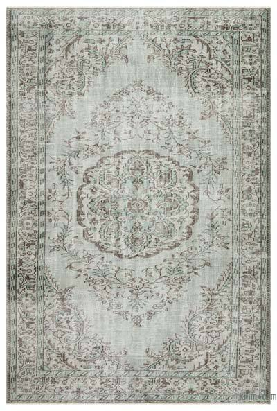 "Over-dyed Turkish Vintage Rug - 6'2"" x 9'4"" (74 in. x 112 in.)"