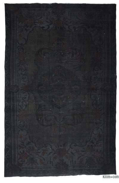 "Over-dyed Turkish Vintage Rug - 6'1"" x 9'2"" (73 in. x 110 in.)"