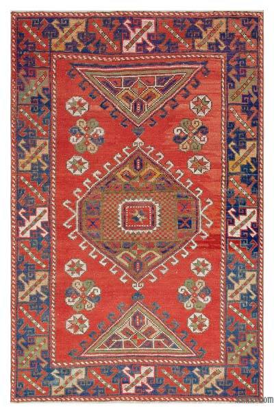 "Turkish Vintage Area Rug - 3'10"" x 5'9"" (46 in. x 69 in.)"