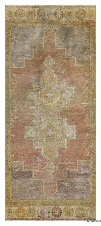 "Turkish Vintage Area Rug - 2'11"" x 6'8"" (35 in. x 80 in.)"