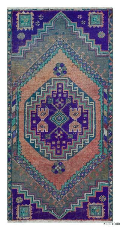 "Turkish Vintage Area Rug - 2'3"" x 4'6"" (27 in. x 54 in.)"