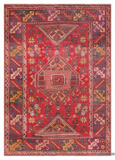 "Turkish Vintage Area Rug - 4'2"" x 5'9"" (50 in. x 69 in.)"