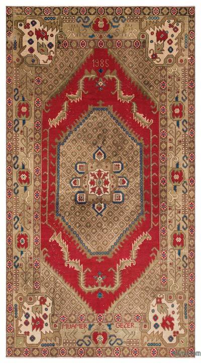 "Turkish Vintage Area Rug - 5' x 9'1"" (60 in. x 109 in.)"