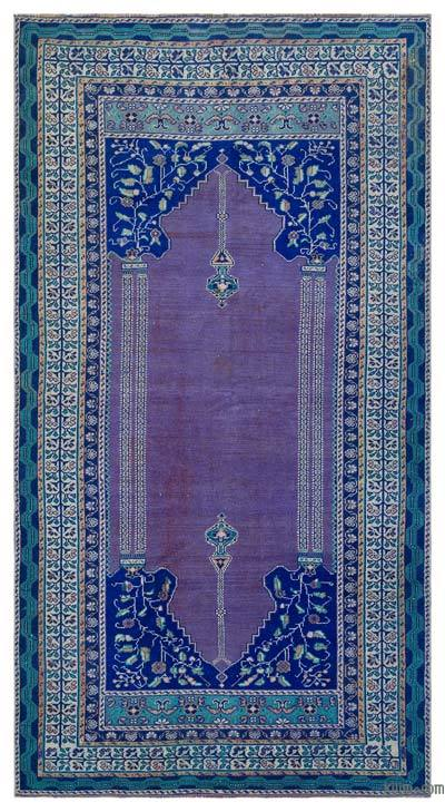 "Turkish Vintage Area Rug - 4'7"" x 8'7"" (55 in. x 103 in.)"