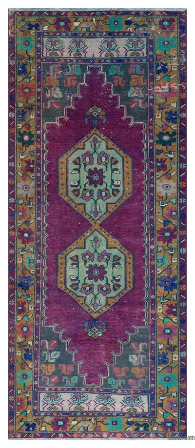 "Turkish Vintage Area Rug - 3'7"" x 8'5"" (43 in. x 101 in.)"